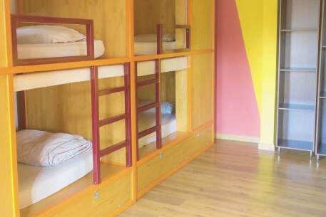 Single bed in 4 Beds shared dorm